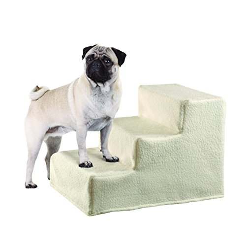 Etna Collapsible Pet Steps with Fleece Cover by Etna
