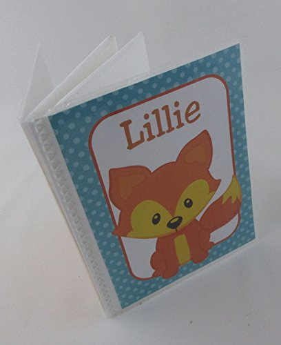 Baby Photo Album . Fox. 399 . 4x6 or 5x7 pictures, personalized with name