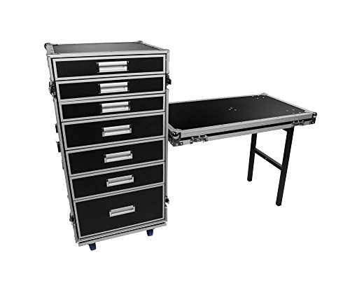 OSP Cases | Pro-Work | 7-Drawer Utility Case|Attachable Standing Lid Table ()