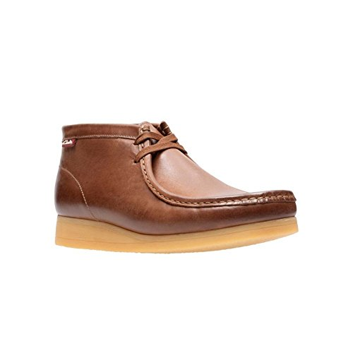 CLARKS Men's Stinson Hi Chukka Boot, Dark Tan Leather, 9 M US