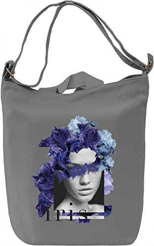 Iris Borsa Giornaliera Canvas Canvas Day Bag| 100% Premium Cotton Canvas| DTG Printing|