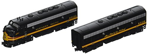 Emd F7a Unit - Kato USA Model Train Products N EMD F7A + F7B Northern Pacific #6012A, 6012B Freight 2-Locomotive Set