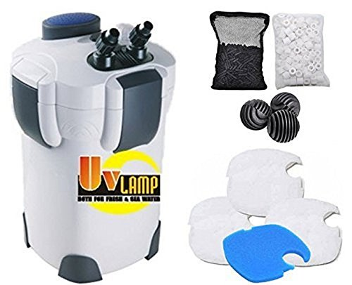 SunSun Hw303B 370GPH Pro Canister Filter Kit with 9-watt UV ()