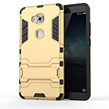 KaTeLin HUAWEI GR5 Case - 3 Layer Holster Combo Shockproof [Drop Protection]Support Hard Cover Case for HUAWEI GR5 - Gold