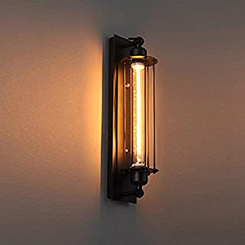 Pauwer industrial wall light edision vintage wall sconce light pauwer industrial wall light edision vintage wall sconce light fixture metal cage wall mounted besides lamps aloadofball Image collections