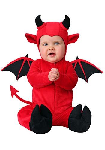 Infant Adorable Devil Costume 12/18 Months Red ()