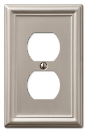 AmerTac 149DBN Chelsea Steel Single Duplex Wallplate, Brushed - And Covers Outlet Switchplates