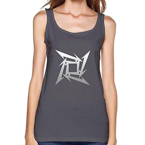 RrelmY Women's Metallica Logo Tank Top