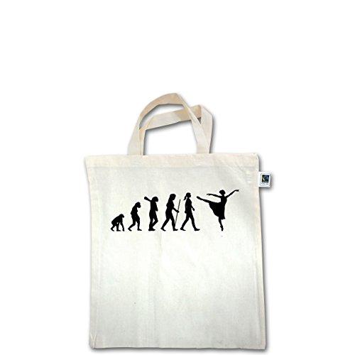 Evolution - Ballett Evolution - Unisize - Natural - XT500 - Fairtrade Henkeltasche / Jutebeutel mit kurzen Henkeln aus Bio-Baumwolle