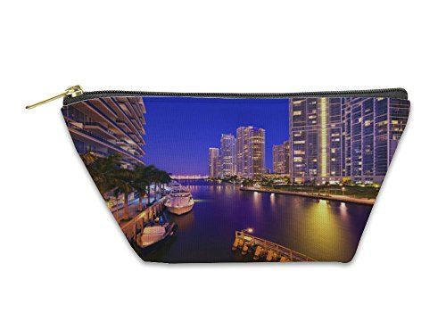 Gear New Accessory Zipper Pouch, Downtown Miami Buildings, Small, - Miami Bayside At Shops
