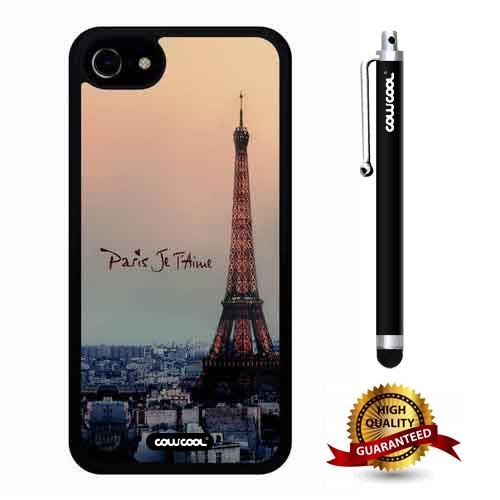 iphone 8 Case, iphone 7 Case, Eiffel Case, Cowcool Ultra Thin Soft Silicone Case for Apple iphone 7 8 - Eiffel Paris Je T'Aime