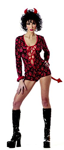 Women Large (8-10) She Devil/Cupid Costume Jumpsuit