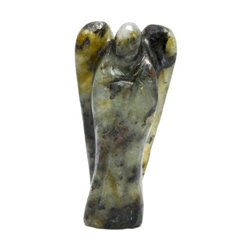 Healing Crystals India Traditional Natural Gemstone Guardian Angel Spiritual Figurine, 3