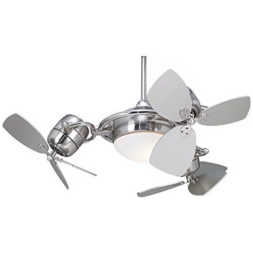 Possini Euro Fx3 Ceiling Fan With Silver Blades