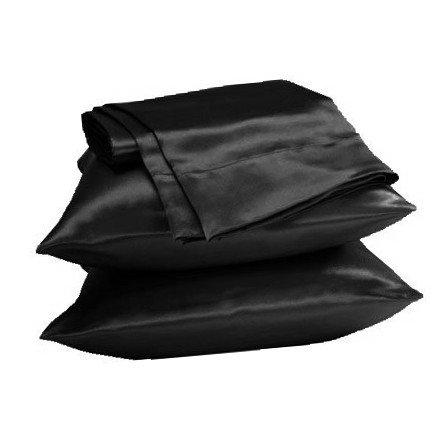 UNIHome 2pc New Queen/Standard Silk~y Satin Pillow Case Mult