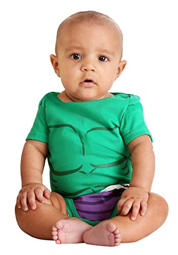 Infant Marvel Spider-Man and Incredible Hulk Onesies 0/3 Months Green -
