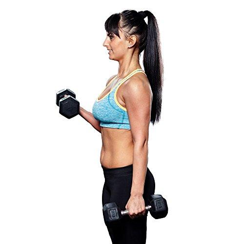 Fitness Republic Hex Dumbbells 20 lbs Set (Hand Weights)