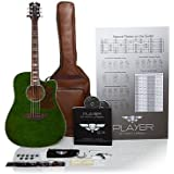 """Keith Urban 50-piece """"PLAYER"""" Acoustic Guitar and 30-Lesson Package - Military Green"""