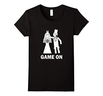 Bride Groom Game On Marriage Funny T-Shirt