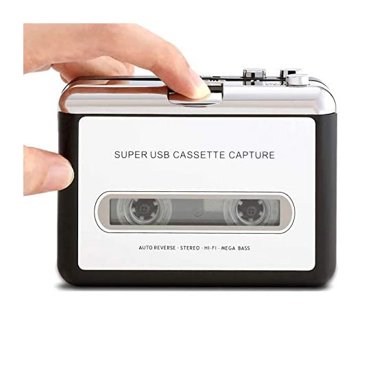 Tobo Cassette Player Portable Walkman Cassette Tape Player Tape Converter to MP3/WAV/CD via USB, with Earphones