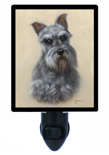 Dog Night Light - Miniature Schnauzer Portrait