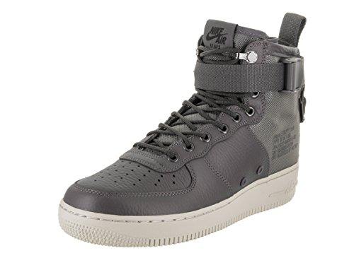 NIKE Men's SF AF1 Mid Dark Grey/Dark Grey Light Bone Basketball Shoe 12 Men - In Premium Francisco San Outlets