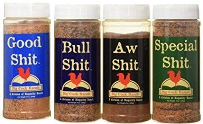 Special Shit - Box o' Shit Sampler Pack of 4 Different Seasonings (1 each of Bull, Special, Good & AW) by Big Cock Ranch (Image #1)