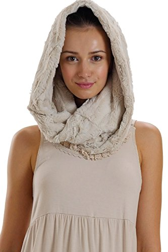 [Shop Lev] Faux Fur Infinity Scarf/Neck Warmer/Snood for Women and Men (IVORY)