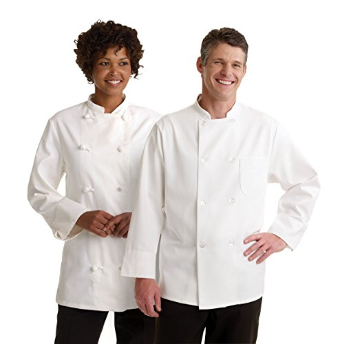 Medline 335ERS34 Knot Button Chef Coats, 34, White by Medline