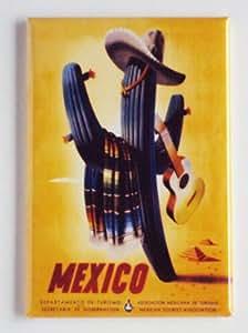 Mexico Travel Poster Fridge Magnet