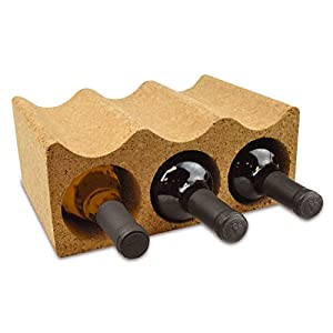 DII 100% Portuguese Cork Six Bottle Wine Rack or Holder For Kitchen, Dining Room, And Cellar
