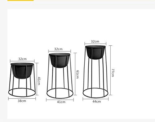European style modern living room interior iron flower racks ( Color : Black , Size : 4477cm ) by Flower racks - xin