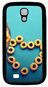 samsung galaxy s4 case,custom samsung galaxy s4 i9500 case,TPU Material,Drop Protection,Shock Absorbent,Customize your own cell phone case pattern,black case,Love circle biscuits