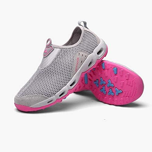 HYH (ホワイト)大型屋外ウォーターシューズ滑り止めワタリ靴カバーフットペダルメッシュ怠惰な靴 いい人生 (色 : White, Size : US5.5)