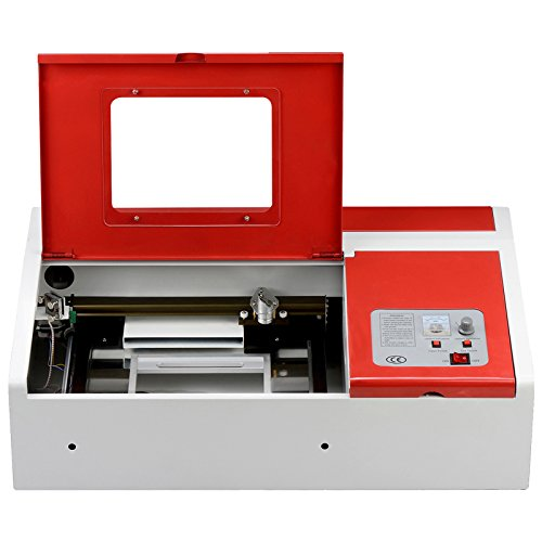 SUNCOO 40W CO2 Laser Engraving Machine Engraver Cutter 12x8in with USB Port for Windows System (Red)