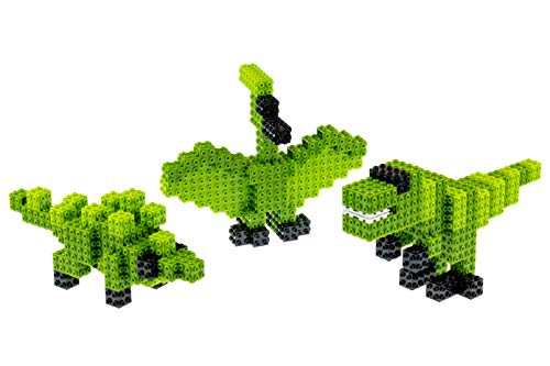 Strictly Briks - 3 in 1 Dinosaur Brick Building Set - Build a T-Rex, Pterodactyl, or a Ankylosaurus - 103 Piece 3D Toy - 100% Compatible with All Major Brick Brands