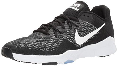 Nike Women's Zoom Condition Trainer 2 Cross, Black/White - Gunsmoke, 6.0 Regular US (Nike Air Zoom Total 90 Iii For Sale)