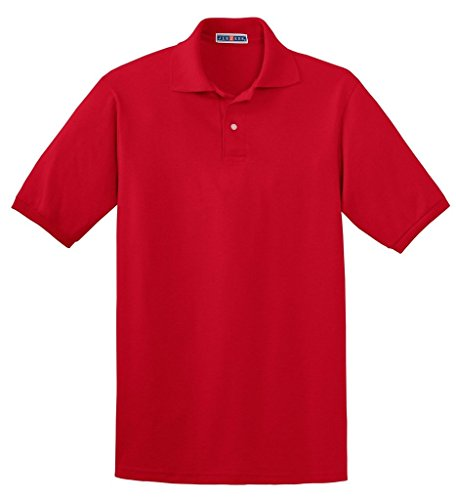 Jerzees Herren Poloshirt Rot rojo (True Red) XX-Large