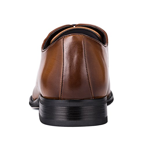 Jivana Oxford Busniess Dress Shoes for Men Father Lace-up (9, Brown-7) by Jivana (Image #4)