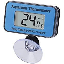 UEETEK Aquarium Fish Tank Marine Thermometer Waterproof LCD Digital Thermometer with Suction Cup