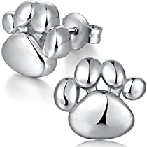 Dog Paw Earrings Sterling Silver Puppy Dog Cat Pet Paw Print Stud Earrings,Woman Paw Earrings,Paw Print Stud Earrings,Cute Bear Paw Earrings,Puppy Paw Earrings,Cougar Paw Earrings Tiger Paw Stud Earrings Sterling Silver Paw Print Stud Earrings
