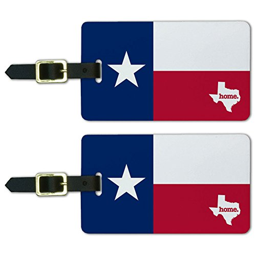 Graphics & More Texas Tx Home State Luggage Suitcase Id Tags-Flag, White
