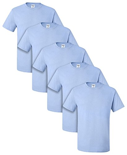 tive Adult Tee, M, Light Blue (Pack of 5) ()