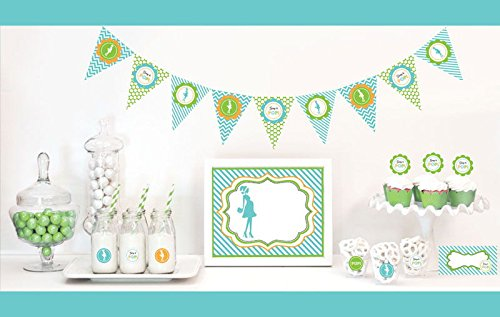 Going to Pop Decorations Starter Kit Baby Shower Favors (EB) (3, Blue) by Eventblossom