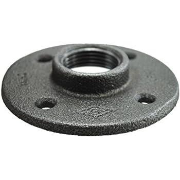 1//4 inch x 2-3//8 inch Black Floor Flange