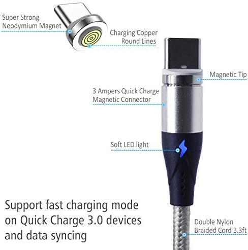 Amazon.com: Magnitto - Cable de carga magnético 3 en 1 ...