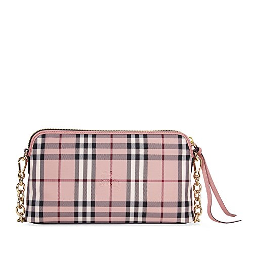 88ea9765621f Burberry Overdyed Horseferry Check Leather Clutch - Ash Rose Dusty Pink   Amazon.ca  Watches