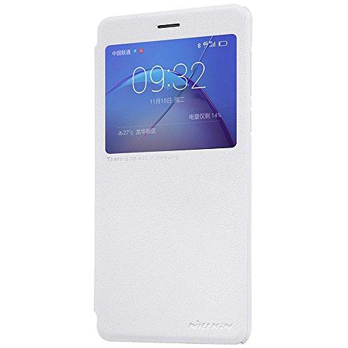 SMTR Huawei Honor 6X Funda, Calidad Premium Cubierta Delgado Caso de PC Hard Gel Funda Protective Case Cover para Huawei Honor 6X -rojo case- blanco