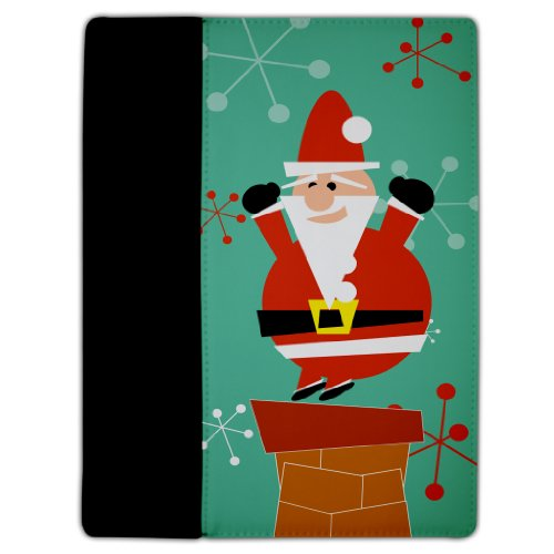 Iowa Hawkeyes Santa - VictoryStore Electronic Device Cover, Protective Leather Case, Compatible with iPad 2 & 3 Christmas Theme (Retro Santa) - Protective Leather and Suede Case