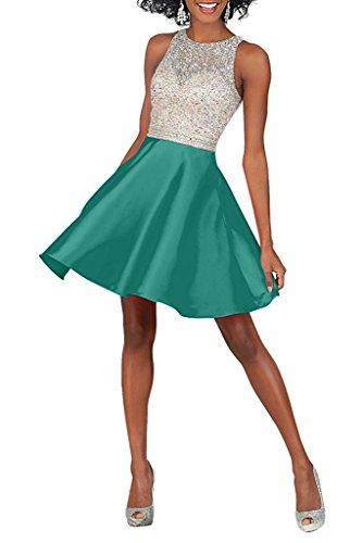 mia La Kurzes Braut Mini mit Gruen Kleider Cocktailkleider Minze Zahlreichen Jugendweihe Brautjungfernkleider Satin Steine Abendkleider ddarwtq